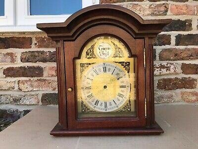 Large Wooden Bracket Clock Case With Brass Dial