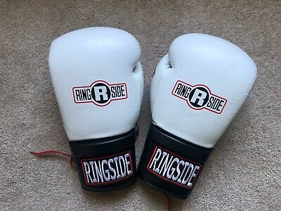 Ringside IMF Tech Lace-Up 16oz. White Sparring Boxing Gloves