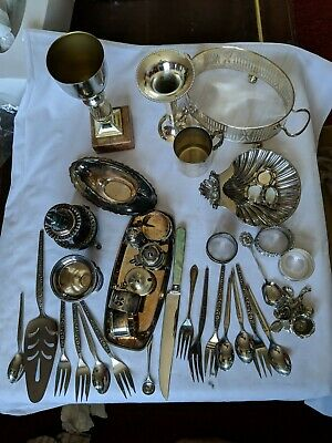 A Job Lot Of vintage Silver Plated Items.