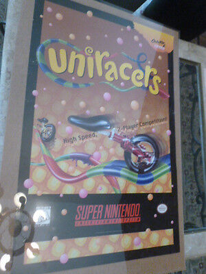 Uniracers Super Nintendo Poster 1994 Promotional NES Video Game Store Promo