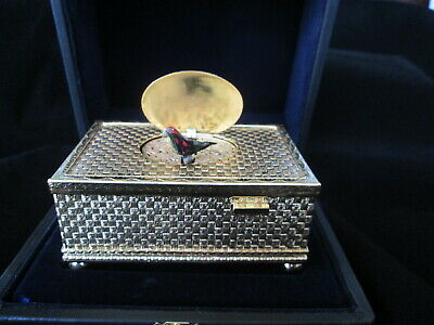 Singvogeldose ´vergoldet (singing bird box)1960/70 original Etui.Video