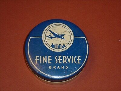 Vintage Fine Service Tin Litho Typewriter Ribbon Can