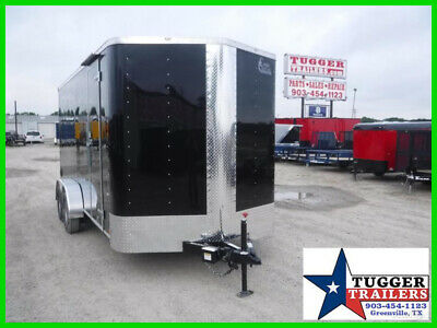 7X16 16Ft Utility Toy Lawn Business Equipment ATV Move Cargo Enclosed Trailer