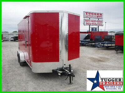 7X16 16Ft Red Utility Work Business Toy Sport Box Cargo Enclosed Box Trailer