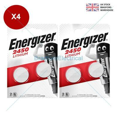 4 x Energizer CR2450 3V Lithium Coin Cell Battery 2450 DL2450