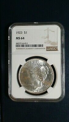 1923 P Peace Silver Dollar NGC MS64 UNCIRCULATED $1 COIN PRICED TO SELL NOW!