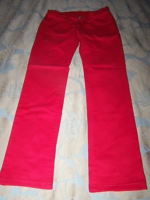 Girls Red Cotton Jeans By United Colors Of Benetton Size Xl 150Cm