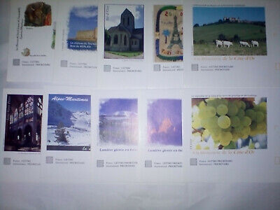 lot 10  enveloppes prioritaire pret à poster 20gr MONDE international NEUF
