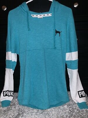 victorias secret pink XS long sleeved, hooded shirt