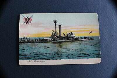 U.S.S .  Miantonomah    Antique Postcard