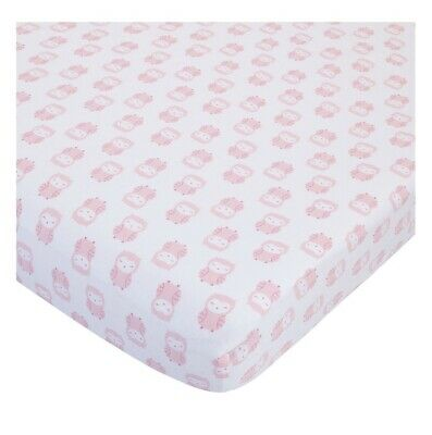 Child of Mine By Carter's 100% Cotton Sateen Fitted Crib Sheets, Pink Owl