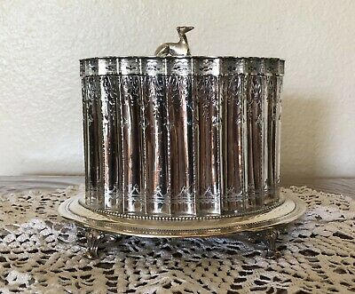 VIctorian Silverplate Biscuit Jar
