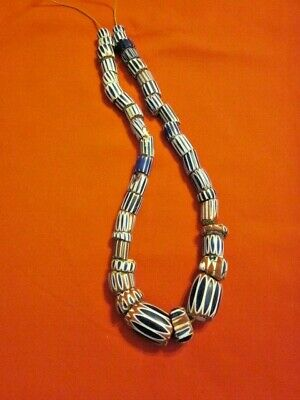 Antique Chevrons African Trade Beads - 40 beads