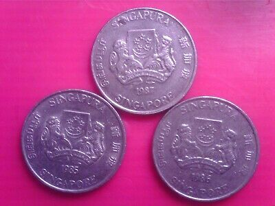 Singapore  20    Cents     1985  1986 1987        May29