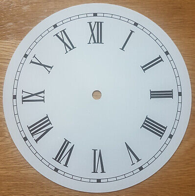 NEW - 8 Inch Clock Dial Face - Off White Antique Finish 203mm Roman Numerals