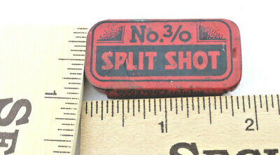 Vintage  collectable HOUSTON FISHING TACKLE COMPANY SPLIT SHOT NO.3/0 RED&BLACK.