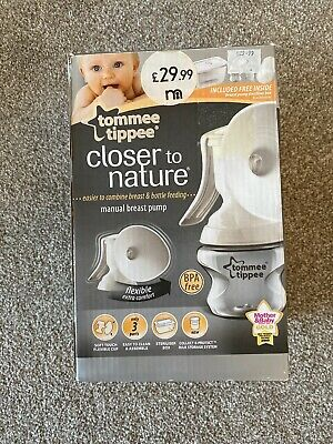 tommee tippee closer to nature manual breast pump With Steriliser Box & Bottle