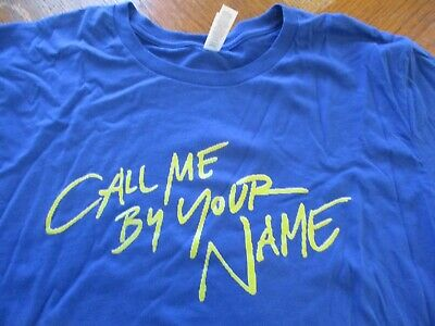 CALL ME BY YOUR NAME Armie Hammer Timothee Chalamet Gay New XL T-shirt RARE