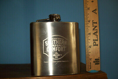 Southern Comfort Flask Metal 6 oz Whiskey liquor