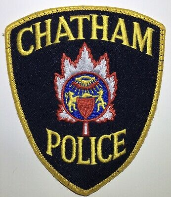 CHATHAM POLICE Ontario Canada Obsolete Patch Gold