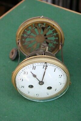 Old  french clock movement/pendulum back bezel for t.l.c.