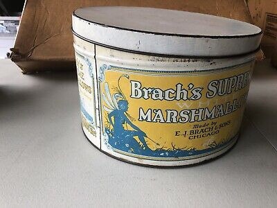 Brach's Marshmallow Tin Can 5 Lb Large