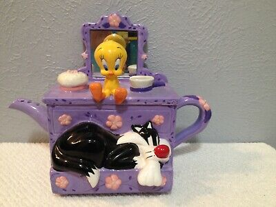 Warner Bros Sylvester And Tweety Vanity Teapot