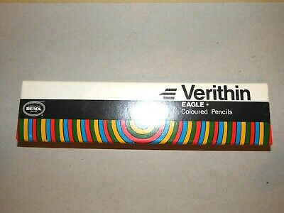 Verithin Eagle Coloured Pencils 745 Carmine Red One Dozen Boxed Nos (3)