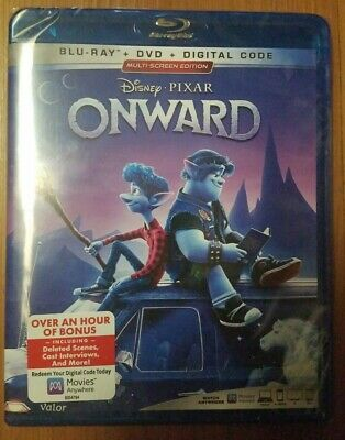 Disney Pixar Onward (Blu-ray + DVD + Digital; 2020) NEW