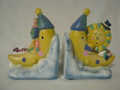 ✨Baby Infant - Toddler Kidsline Over the Moon Nursery Rhymes Bookends FREE SHIPN