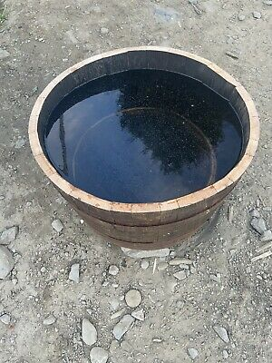Water tight Whisky Barrel oak planter/tub