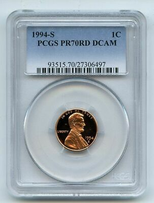 1994 S 1C Lincoln Cent Proof PCGS PR70DCAM