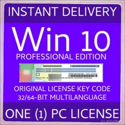 WINDOWS 10 PRO 32 | 64-BIT GENE ACIVATION KEY LICENSE Fast DELEVERY!!