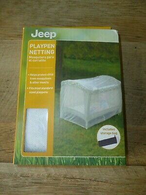 Playpen Netting-Fits most standard sized playpens! Protect Baby from INSECTS FS