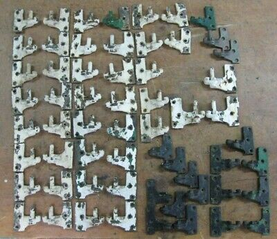 antique shutter hardware, fasteners assorted lot of 60 pcs.