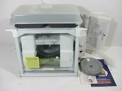 New Ronco Showtime Rotisserie & Bbq Oven Compact 3000Q White W/ Accessories