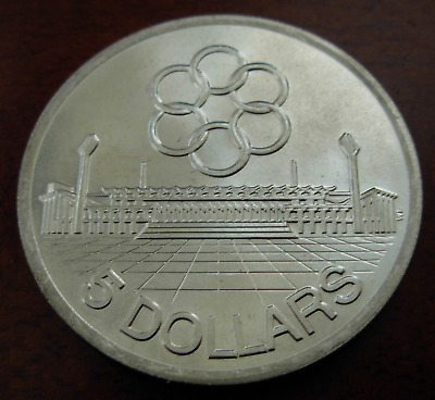 Singapore 1973 Silver $5 UNC 7th Southeast Asia Peninsular Games