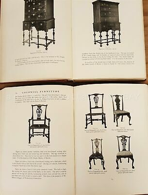 1921 antique COLONIAL FURNITURE in AMERICA 2vol 876 ILLUS chests dressers tables