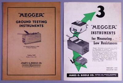 1940's James G Biddle Co Megger Ground Testing Catalog & Bulletin C32D