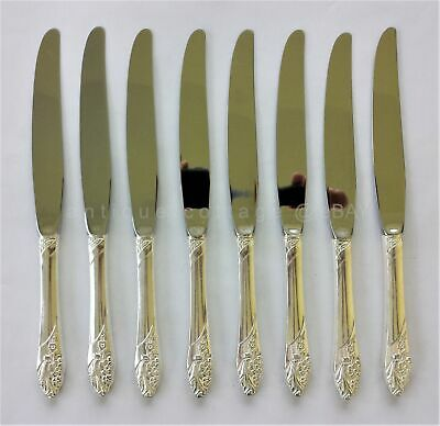 oneida COMMUNITY PLATE SILVERPLATE FLATWARE EVENING STAR 8pc dinner knives