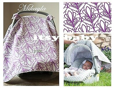 THE WHOLE CABOODLE Carseat Canopy 5pc set for Infant Seat ~ MIKAYLA ~