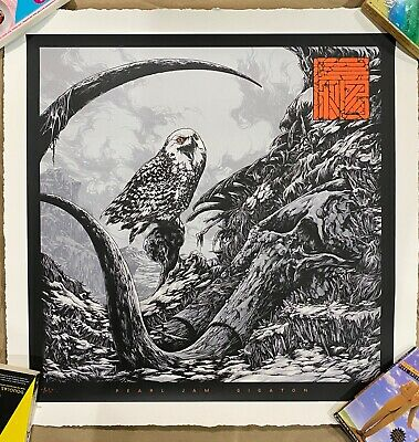 Pearl Jam Gigaton 2020 Ken Taylor Poster Serigraph Numbered #/200 In Hand