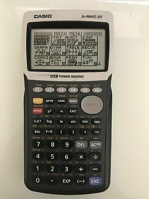 Casio FX-9860G AU Scientific Graphing Calculator with Accessories