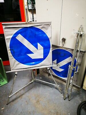 Keep Left / Right portable road signs X2