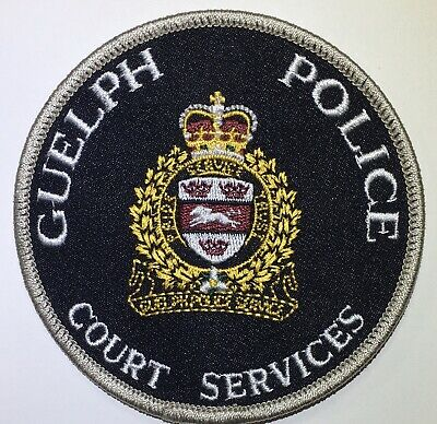 GUELPH POLICE COURT SERVICES Ontario Canada Obsolete Patch