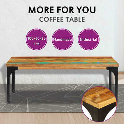vidaXL Coffee Table 100x60x35cm Solid Reclaimed Wood Side Couch Living Room
