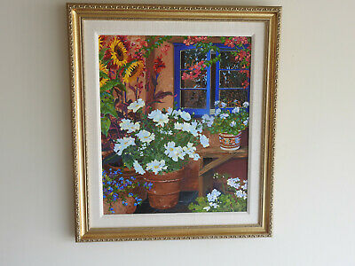 "1998 ""The Blue Window"" by John Powell on Canvas"