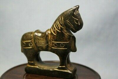 Chinese Handwork Jade Carved Horse Auspicious Statue Asian Oriental Gift