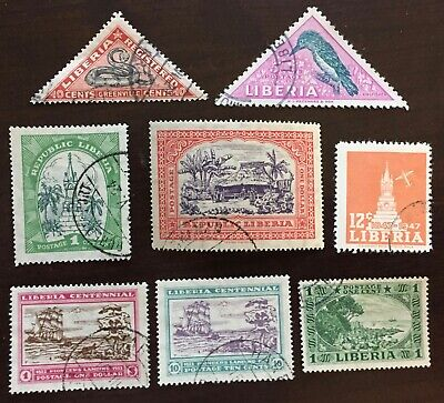 Excellent LIBERIA postage stamps for your world collection!!!!