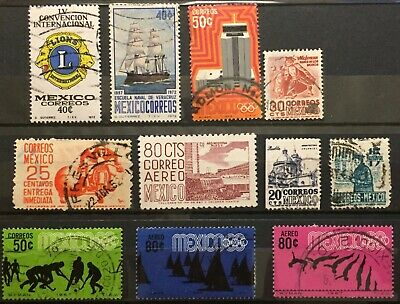 Excellent MEXICO postage stamps for your world collection!!!